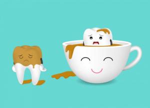 تاثیر قهوه روی دندان